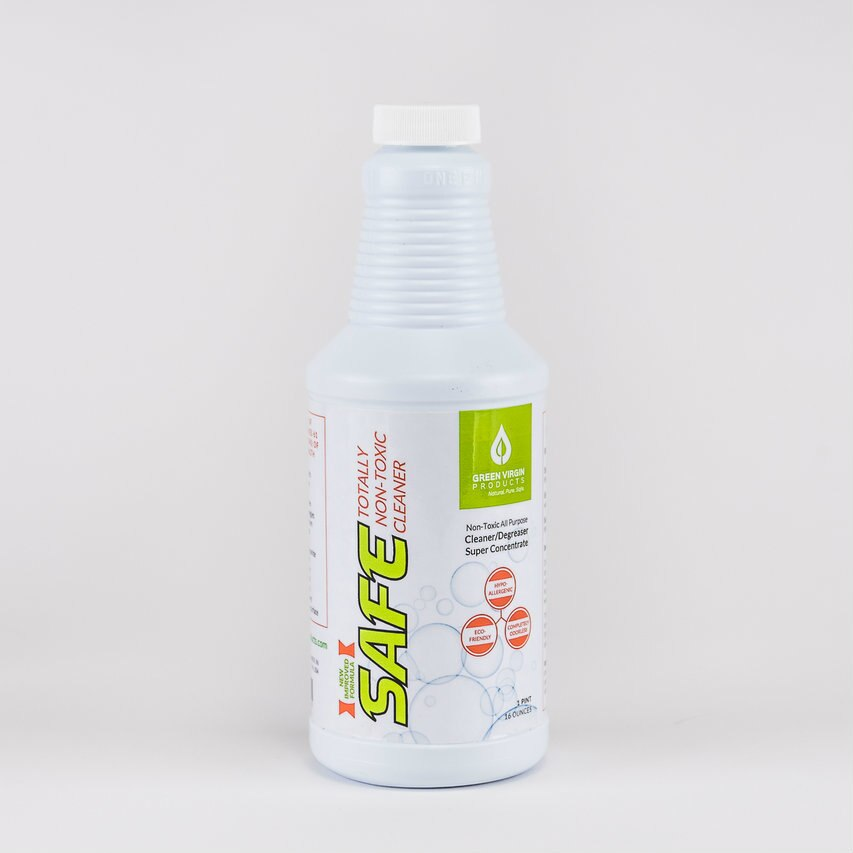 """16 OUNCE (PINT) """"SAFE"""" Super Concentrated, Totally Non-Toxic, All Purpose Cleaner"""